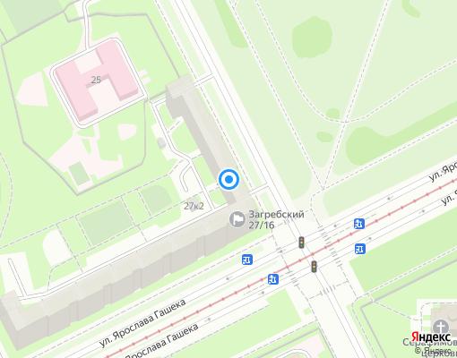 Товарищество собственников жилья «Загребский 27/16» на карте Санкт-Петербурга