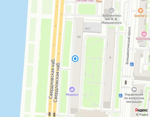 Жилищно-строительный кооператив «ЖСК № 44» на карте Санкт-Петербурга