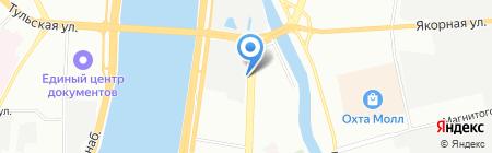 Штурманские приборы на карте Санкт-Петербурга