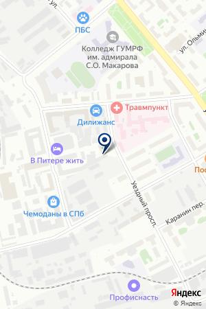ТОРГОВО-ТЕХНИЧЕСКИЙ КОМПЛЕКС АВИК-СЕРВИС на карте Санкт-Петербурга