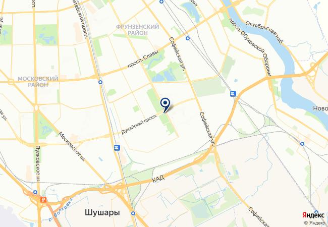 Расположение клиники СМ-Клиника на Дунайском