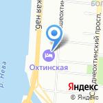 Охтинская на карте Санкт-Петербурга
