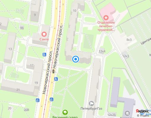 Товарищество собственников жилья «ДЕСЯТКА» на карте Санкт-Петербурга