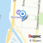 Большеохтинская на карте Санкт-Петербурга