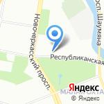 Флагман на карте Санкт-Петербурга