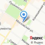 Дом цветов и подарков на карте Санкт-Петербурга