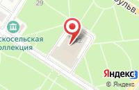 Схема проезда до компании ПТФ ОКНА МЕГАПОЛИСА в Пушкине