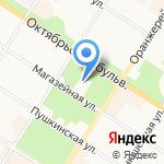 Царское Село на карте Санкт-Петербурга