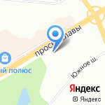 Спутник на карте Санкт-Петербурга