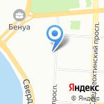Средняя общеобразовательная школа №140 на карте Санкт-Петербурга