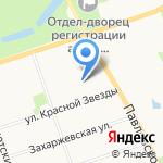 Пушкинский на карте Санкт-Петербурга