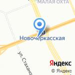 Наперсток на карте Санкт-Петербурга