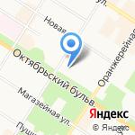Диваль на карте Санкт-Петербурга