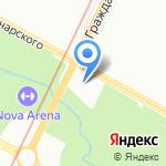 Храм Сретения Господня на карте Санкт-Петербурга