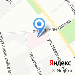 Городская больница №23 на карте Санкт-Петербурга