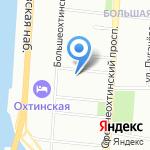 Красногвардеец на карте Санкт-Петербурга