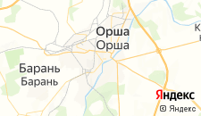 Гостиницы города Орша на карте