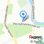 Алтан на карте Санкт-Петербурга