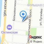 Внутригородское муниципальное образование Санкт-Петербурга Муниципального округа Большая Охта на карте Санкт-Петербурга