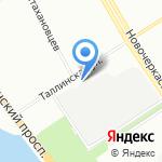 ТРИКС на карте Санкт-Петербурга