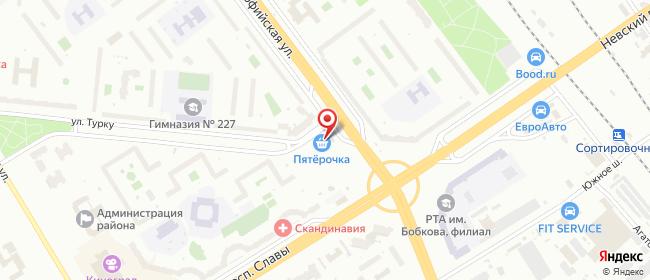 Карта расположения пункта доставки Санкт-Петербург Турку в городе Санкт-Петербург