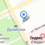 Бухарестская 130 на карте Санкт-Петербурга