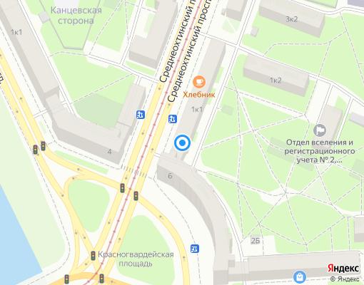 Управляющая компания «СМАЙЛ» на карте Санкт-Петербурга