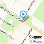 Боярд Пушкин на карте Санкт-Петербурга