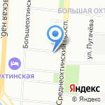 Факел на карте Санкт-Петербурга
