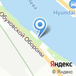 НА БЕРЕГУ на карте Санкт-Петербурга