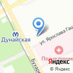 Невская Палитра на карте Санкт-Петербурга