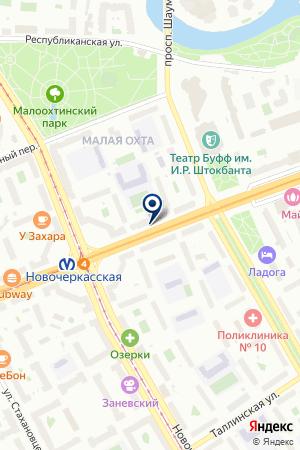 САЛОН ШТОР ДЕКОРИЯ на карте Санкт-Петербурга