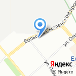Еврокард на карте Санкт-Петербурга