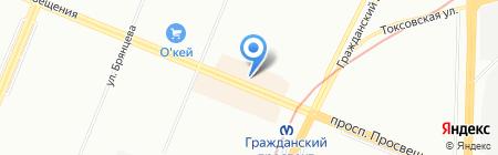 Быстрый цыпленок на карте Санкт-Петербурга