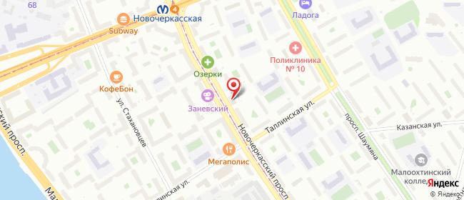 Карта расположения пункта доставки Телепорт в городе Санкт-Петербург
