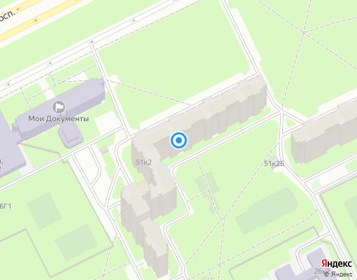 Товарищество собственников жилья «Дунайский 51/2» на карте Санкт-Петербурга