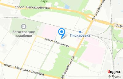 Местоположение на карте пункта техосмотра по адресу г Санкт-Петербург, пр-кт Мечникова, д 13 литер а