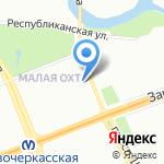 Детская городская поликлиника №68 на карте Санкт-Петербурга