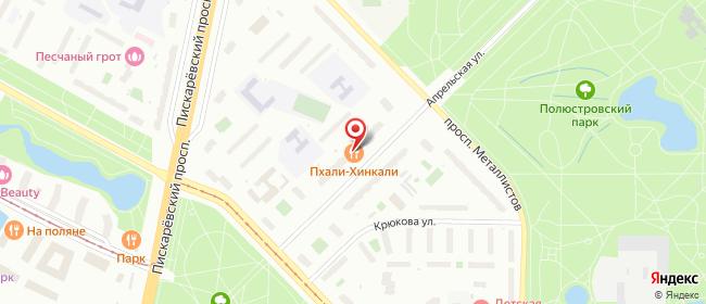 Карта расположения пункта доставки Санкт-Петербург Апрельская в городе Санкт-Петербург