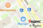 Схема проезда до компании Микроника в Санкт-Петербурге