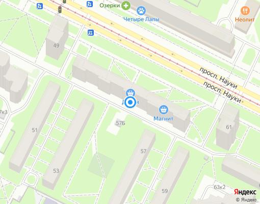 Товарищество собственников жилья «Академическое» на карте Санкт-Петербурга