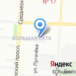 Северный Ветер на карте Санкт-Петербурга