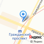Кьюнитс-Трейд на карте Санкт-Петербурга