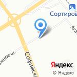 Иней на карте Санкт-Петербурга