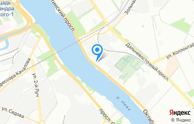 Местоположение на карте пункта техосмотра по адресу г Санкт-Петербург, наб Октябрьская, д 8 к 2 литер а