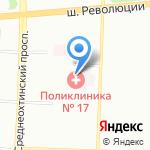 Городская поликлиника №17 на карте Санкт-Петербурга