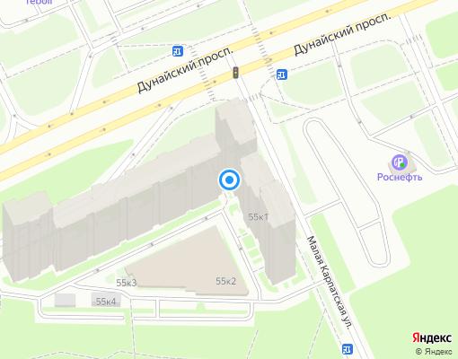 Товарищество собственников жилья «Карпаты» на карте Санкт-Петербурга
