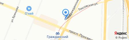 Вкубе на карте Санкт-Петербурга