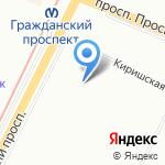 Средняя общеобразовательная школа №89 на карте Санкт-Петербурга