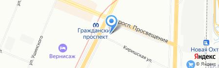 Мегахауз на карте Санкт-Петербурга